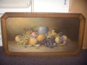 Still life fruit with vase