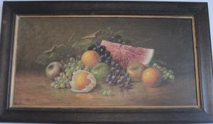 Still life fruit signed HR Lewis