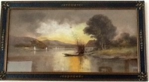 Pastel Landscape owed by the Shaws