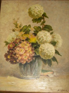 H. Lewis floral circa 1935 owned by P. Boyer