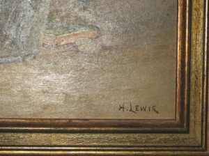 H. Lewis signature circa 1935