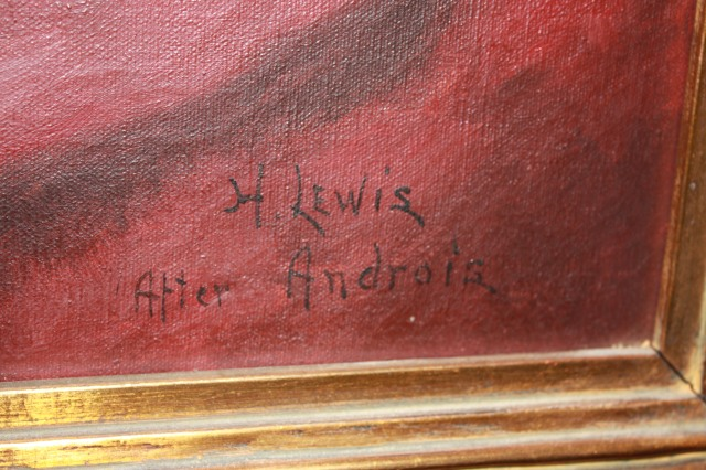 "H. Lewis signature ""After Andreis"""