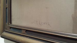 Judy Randolph campsite pastel HR Lewis signature