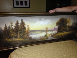 Pastel Landscape signed H R Lewis
